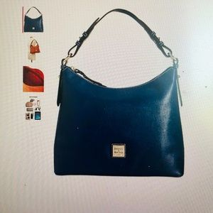 Black Dooney & Bourke Saffiano Leather Hobo